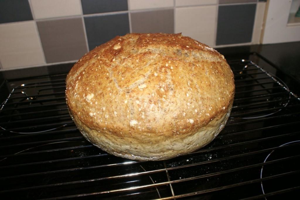 no-knead bread ferdig