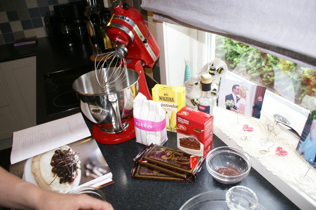 Ingredienser til sjokolademarengs