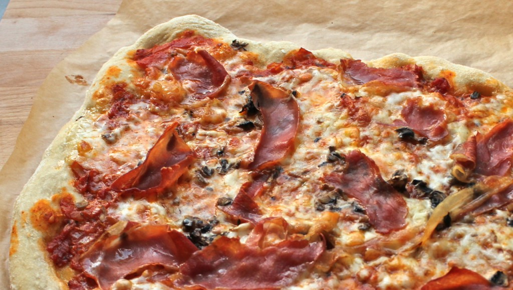 no-knead pizzabunn knafri