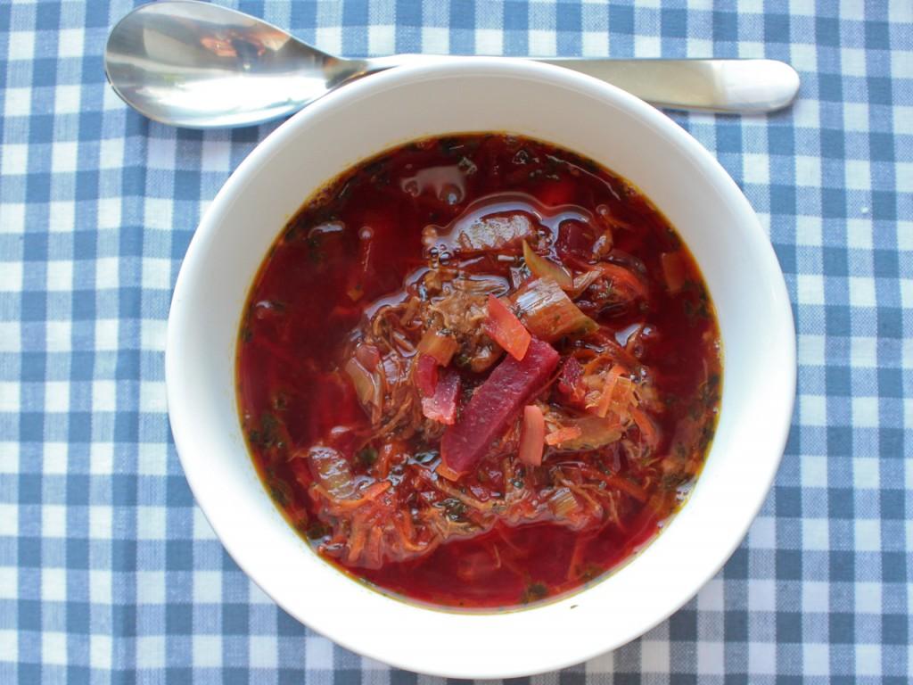 Rødbetesuppe borscht bortsj