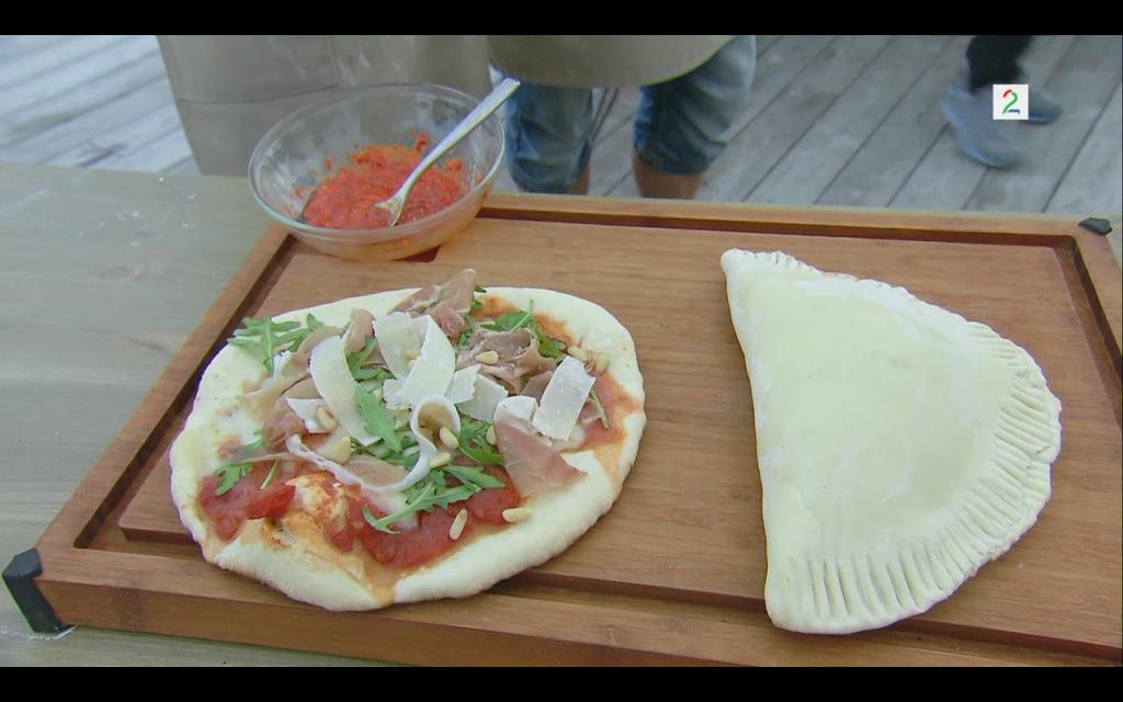 Pizzaene - mørke under og lyse på toppen