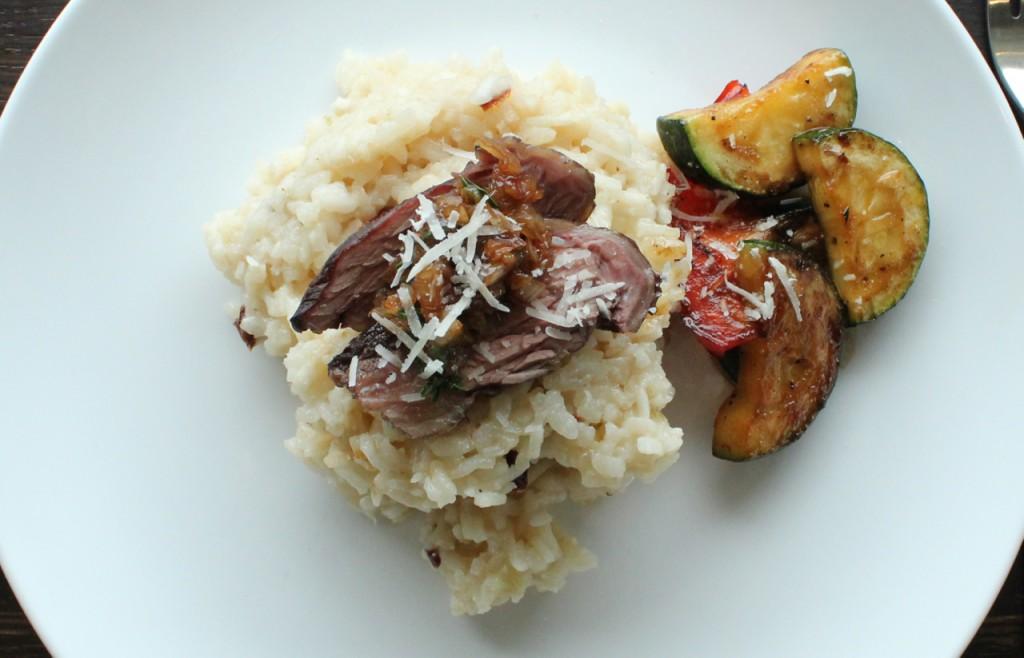 Høyrygg på risotto