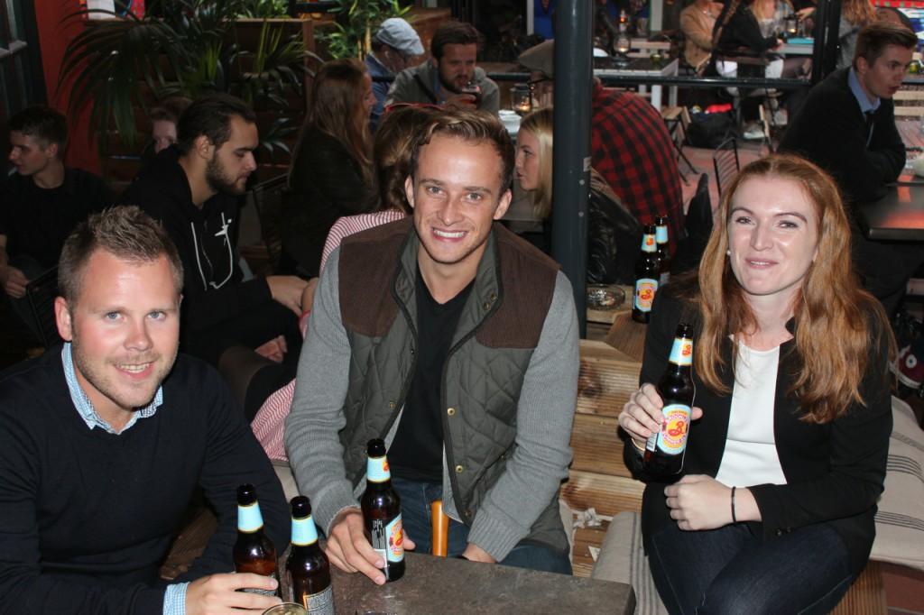 Håvard, Richard og Nina, Karines veninne