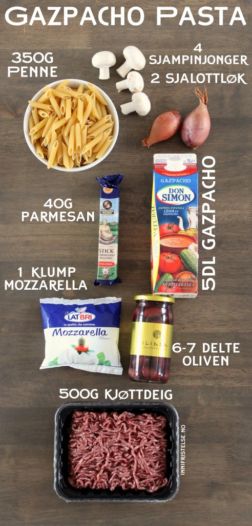 Ingredienser pasta