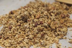 Granola ferdig fra ovnen