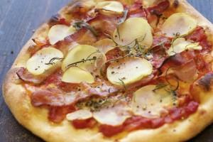 Pizza med potet